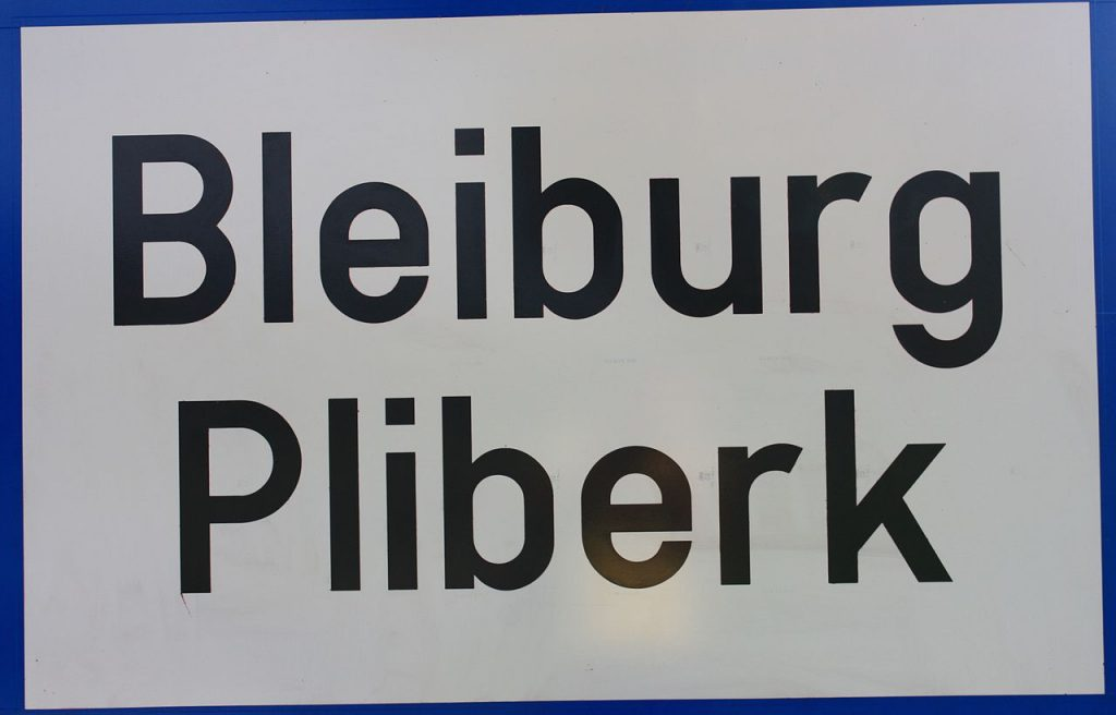 Tabla Bleiburg Pliberk.