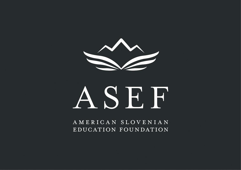 Logotip amerisko slovenske izobrazevalne fundacije ASEF.