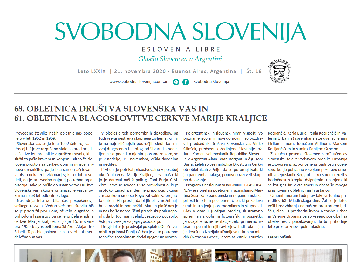 Posnetek zaslona glasila Svobodna Slovenija
