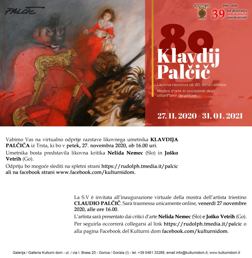 Vabilo na virtualno razstavo Klavdija Palcica