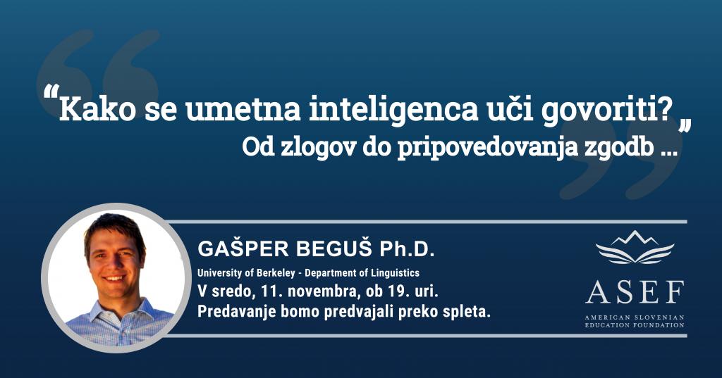 Udeleženec predavanja  ASEF profesor in docent Gašper Beguš.
