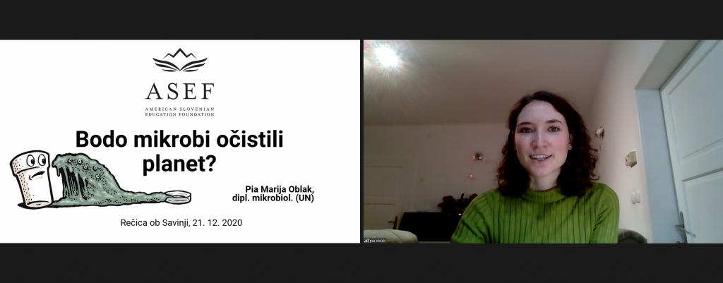 Predavateljica Pia Marija Oblak