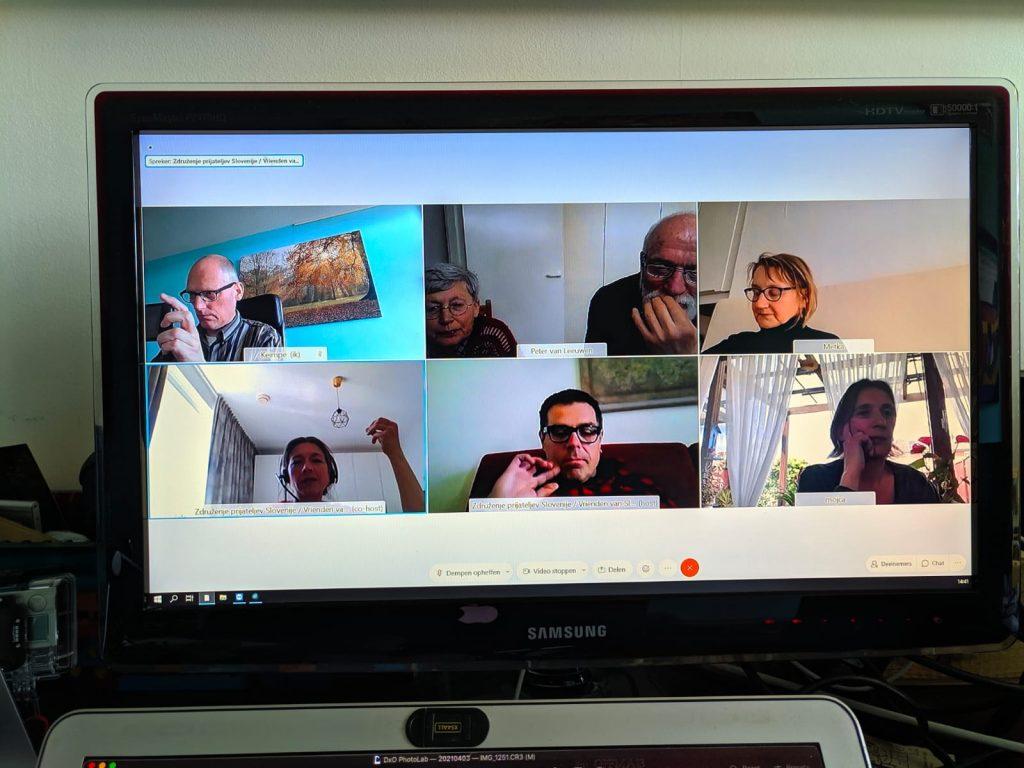 Posnetek zaslona - zoom. Udeleženci srečanja.