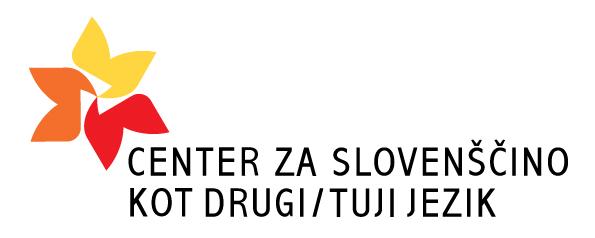 Logotip centra za slovenščino kot drugega ali tujega jezika