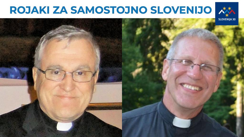 Župnika Jože Božnar in Janez Kumše